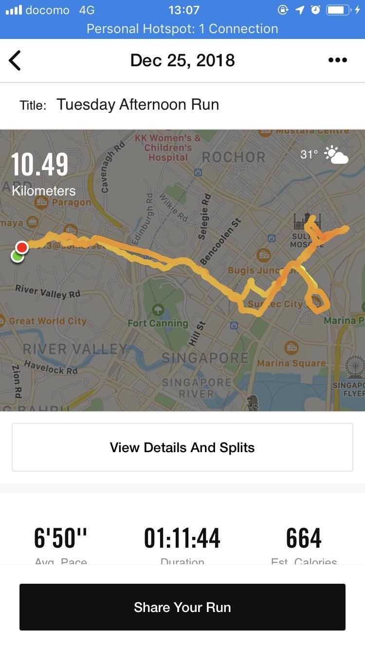 アキレス腱断裂後初の10キロランニング