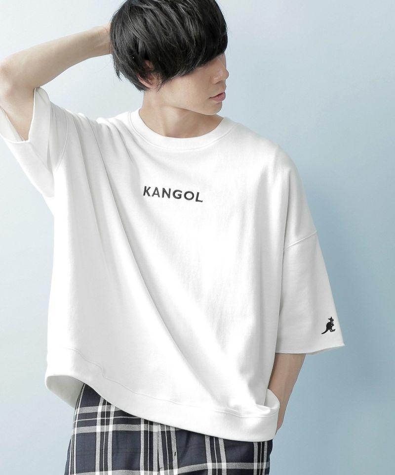 WEB限定 MONO-MART×KANGOL カンゴール ビッグシルエット プルオーバー サマースウェット(1:2 sleeve)
