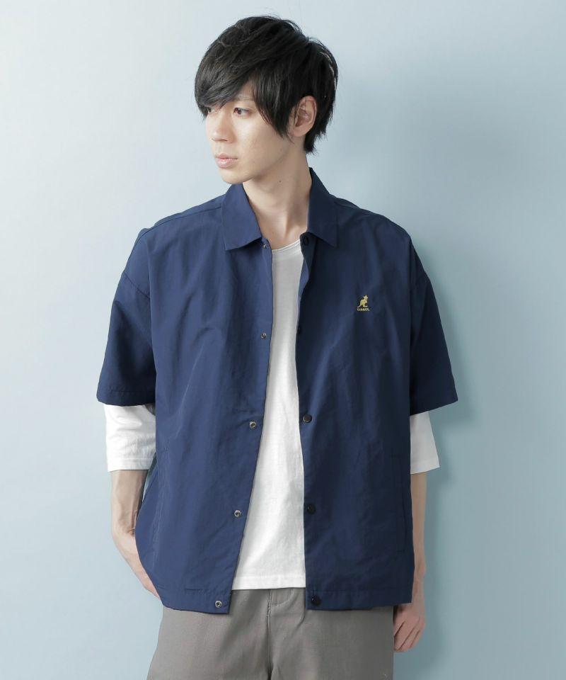 KANGOL:カンゴール 別注 オーバーサイズ コーチシャツジャケット (1:2 sleeve)(1)