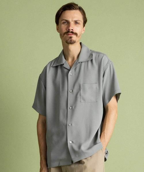 UNITED TOKTYO サテンオープンカラーシャツ(1)