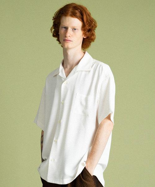 UNITED TOKTYO サテンオープンカラーシャツ(2)
