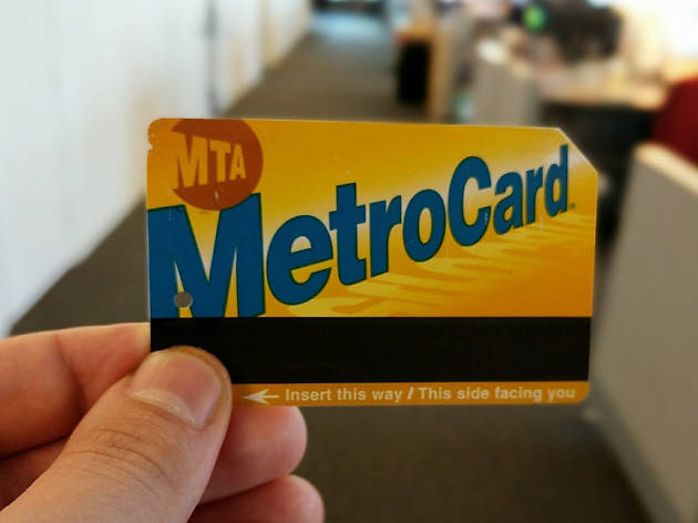 ニューヨークの地下鉄乗車チケット「MetroCard」