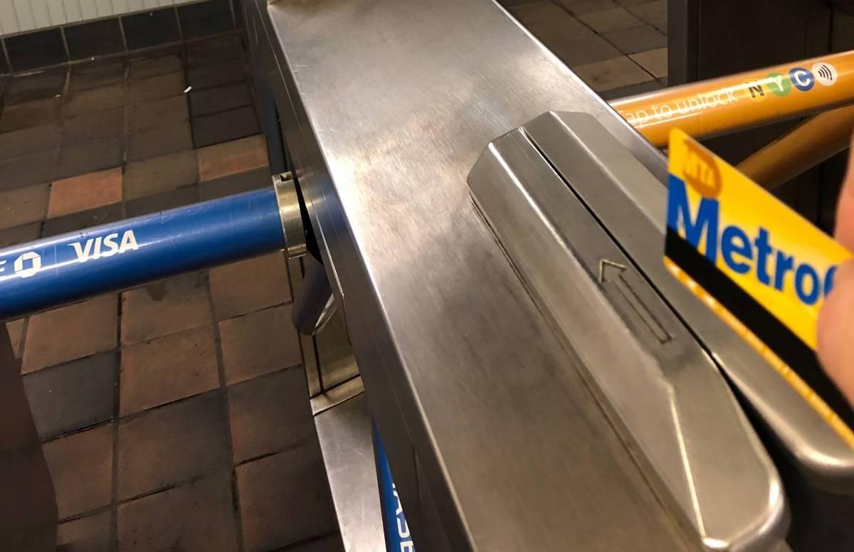 MetroCardは向きに注意!間違えると通れません