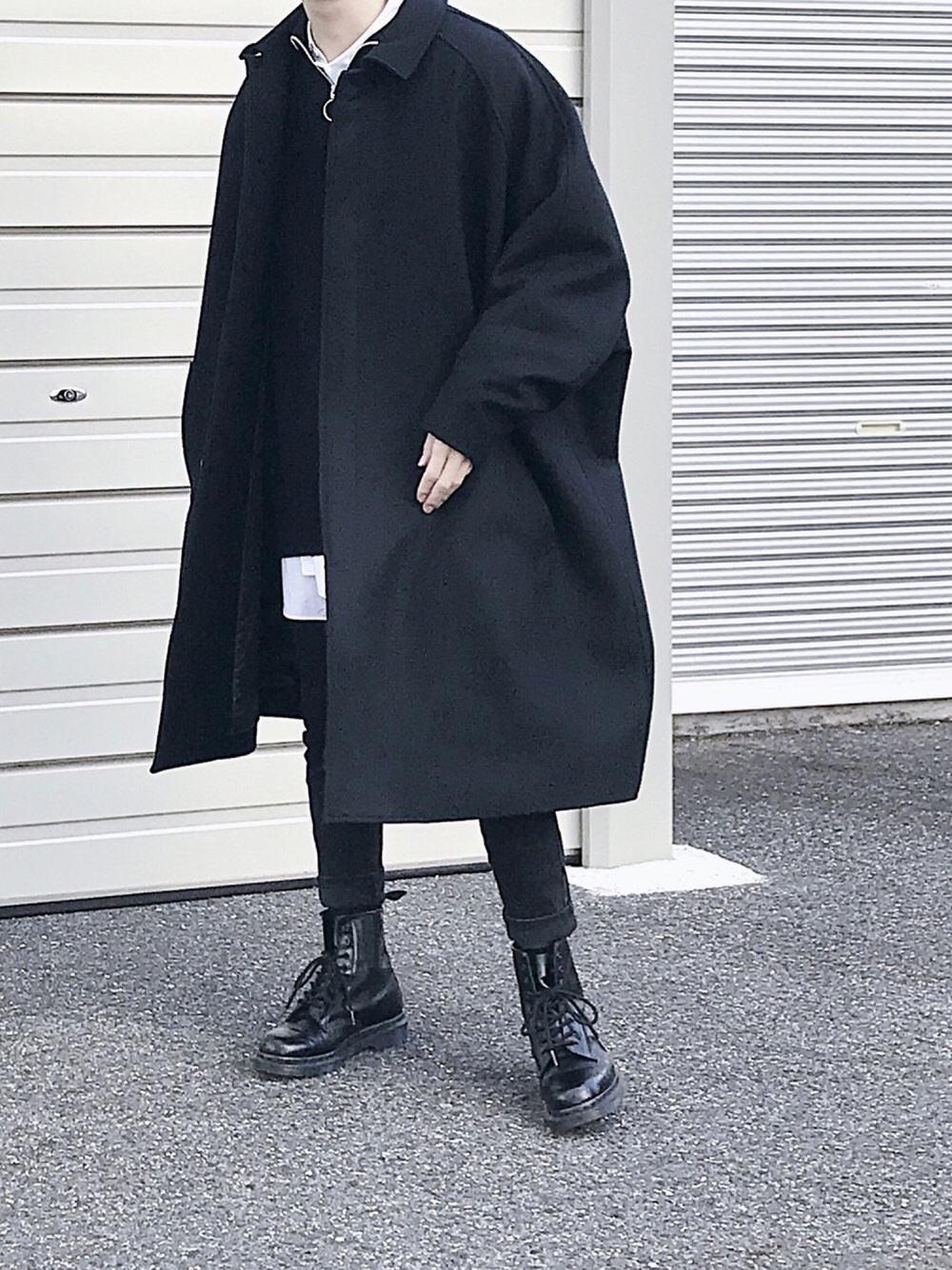 【冬コーデ】黒コート×Lui'sスキニーパンツ