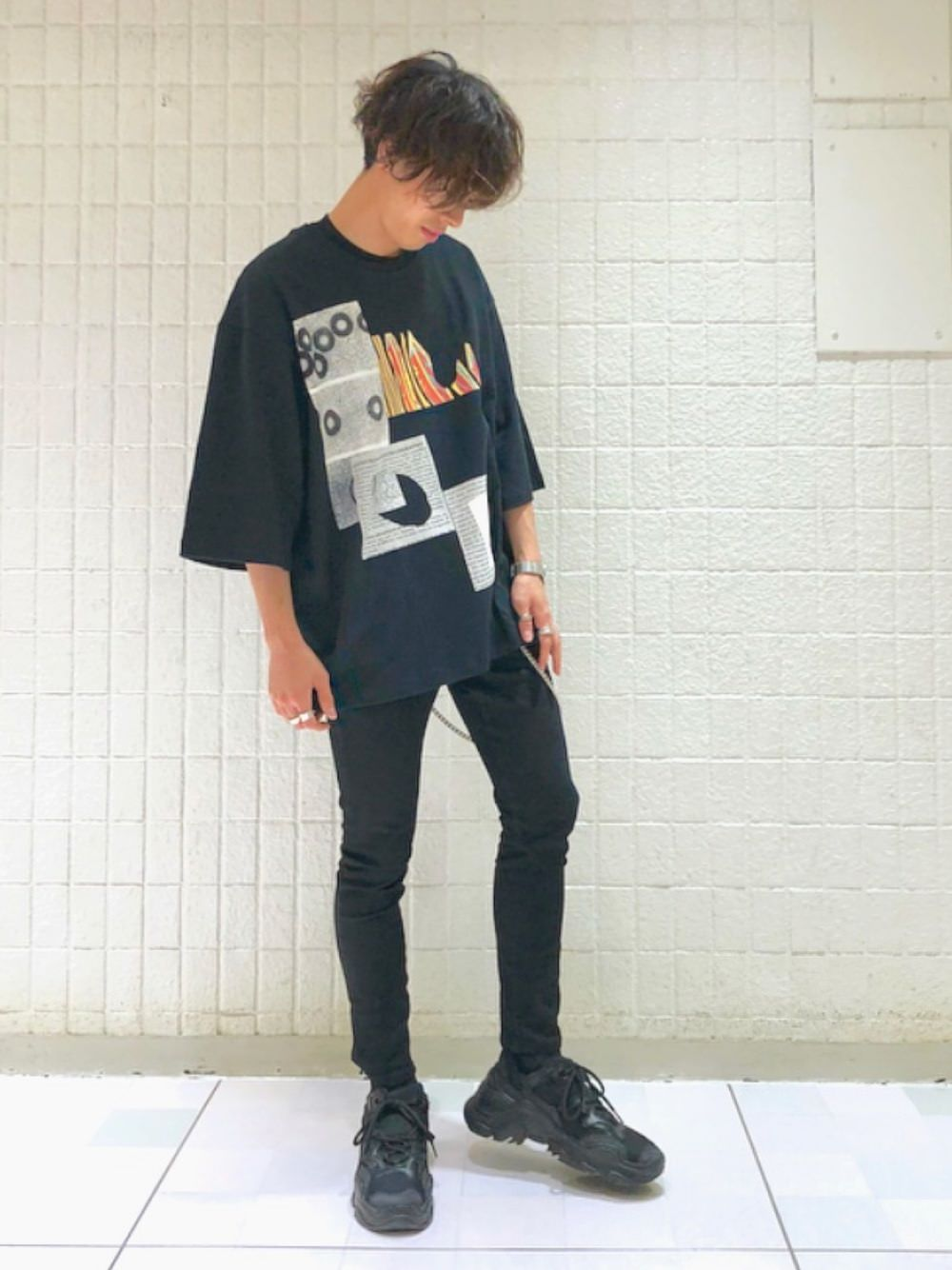【夏コーデ】ビッグTシャツ×Lui'sスキニーパンツ