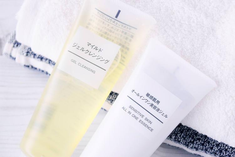 おすすめメンズオールインワン化粧水『無印商品の敏感肌用美容液ジェル』