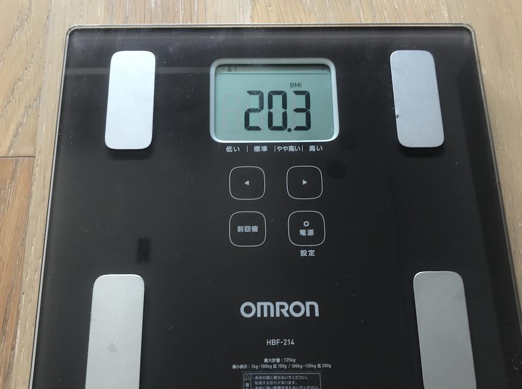 BMIは約20で「標準」