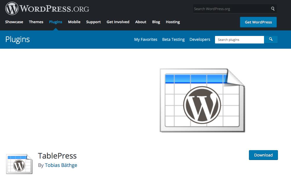 CSS要らず!表をカンタンに作成できるプラグイン『TablePress』