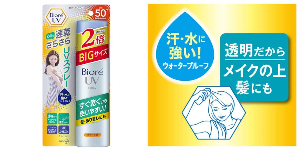 おすすめ日焼け止めスプレー:Biore(ビオレ)UV 速乾さらさらスプレー