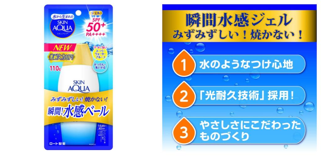 メンズおすすめ日焼け止めクリーム:スキンアクア (SKIN AQUA) UV スーパー モイスチャージェル