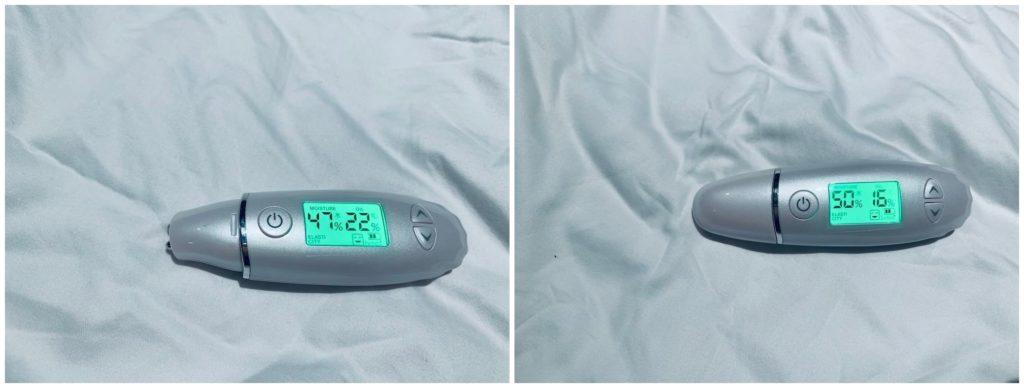 【スキンチェッカー】保湿後約1-2時間後の比較