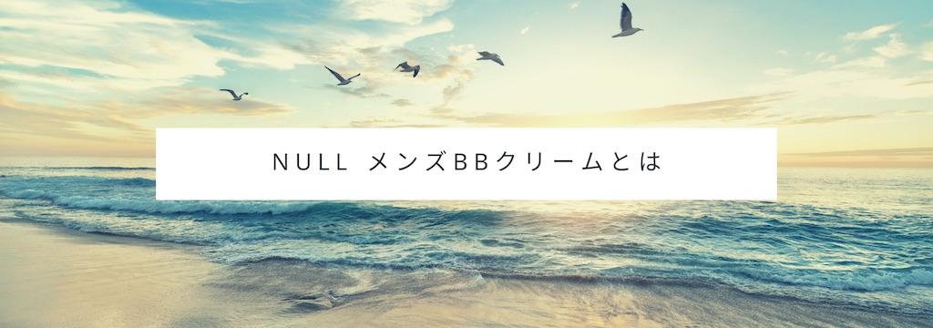 NULL メンズBBクリームとは