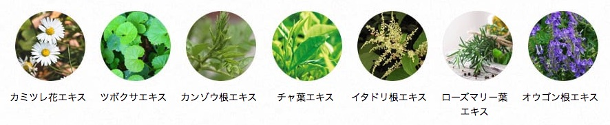 NULL BBクリーム配合の7種のオーガニック植物エキス