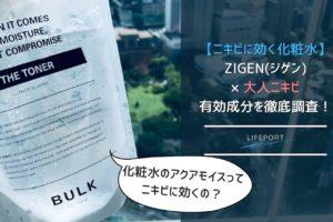 【実際に使用した感想】バルクオムの化粧水はニキビに有効?大人ニキビに有効な保湿成分を解説